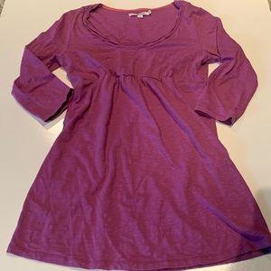 Boden cotton 3/4 sleeve pink purple dress tunic 8
